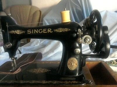 Singer 99k Hand Crank video on YouTube of sewing