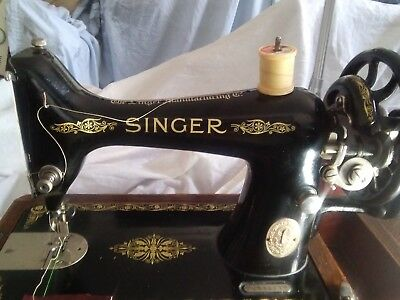 Singer 99k Hand Crank sewing Machine see video on YouTube