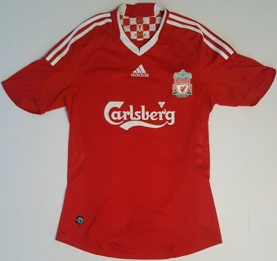 Liverpool Football Club Soccer Jersey Red Adidas Clima365 Carlsberg Size Small