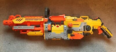 Nerf Vulcan EBF-25 Machine Gun AS-IS FOR PARTS OR REPAIR ONLY