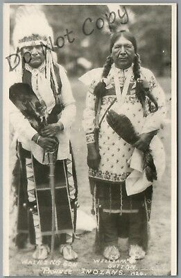 Pawnee Indians In 1924, Walking Son, William Sutton, Kodak Rppc Postcard