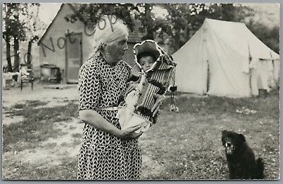 Rosebud, South Dakota - Old Indian Woman & Papoose - 1957 P/u Rppc Postcard