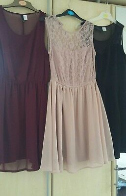 Bundle 3x H&M dresses size 10-12. Summer dress. Occasion. Party. Smart. Bulk.