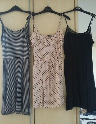 Bundle 3x H&M divided dresses size 10-12. Summer dress. Sun dress. Holiday. Bulk