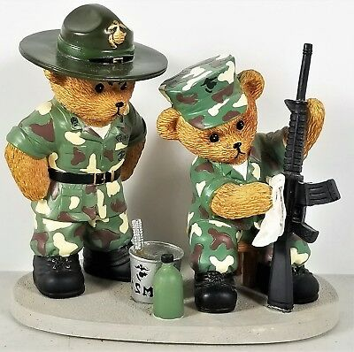 Marine Corps Boot Camp Bears Collection Polished with Pride Faithful Fuzzies
