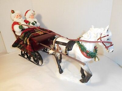 Possible Dreams Santa & Mrs Claus Horse Drawn Sleighride Together #71110