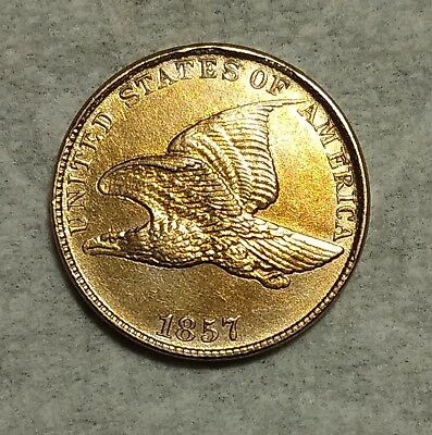 Brilliant Uncirculated 1857 Flying Eagle Cent! Gorgeous early specimen!