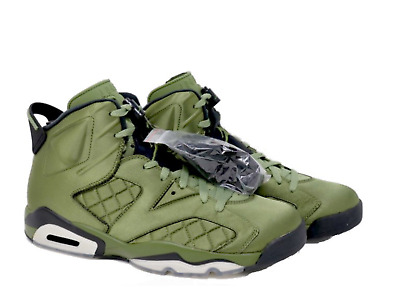 3617050fd3c Nike Air Jordan 6 Pinnacle Palm Green Retro SNL Flight Jacket Satin Size 11  Mens