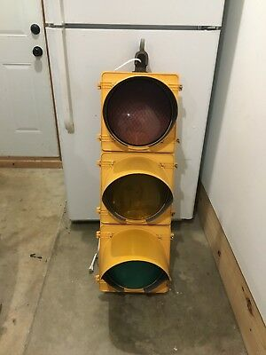 "Real Traffic Signal Light Red, Yellow, Green 12"" Wired LED W/ Hanger Man Cave"