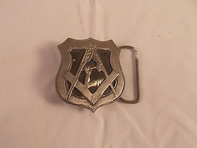Pewter Masonic Belt Buckle - Made In Usa