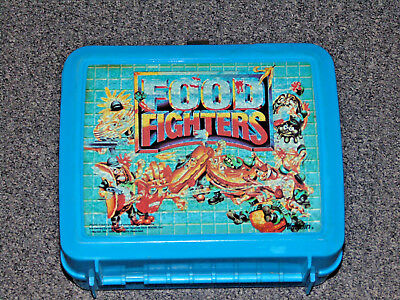 Vintage Food Fighters Aladdin Plastic Lunch Box 1988 Mattel Missing Thermos