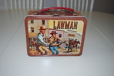 Lawman Lunch Box No Thermos 1961 Very Clean Inside And Out