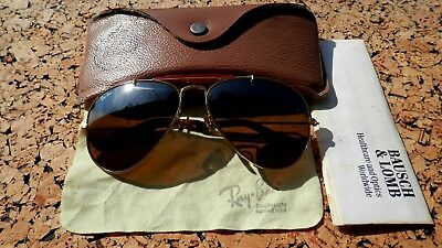 b50d2bdc1b5322 Vintage Ray-Ban Aviator B-15 TGM Driving Lenses Sunglasses By Bausch   Lomb