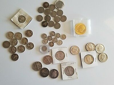 Lot of 90% Silver Coins $10.95 Face Barber Kennedy mercury liberty