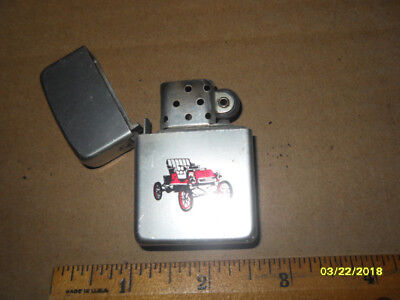 Vintage Storm King Lighter with Red Buggy Picture