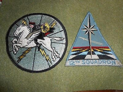 Vintage Squadron Patches, 1950's Navy VW-1 and 12th USAF Cadet Squadron