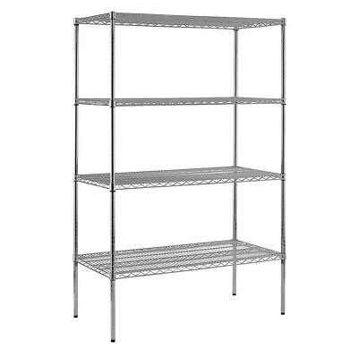Sandusky Chrome Wire Commercial Shelving  74 in. H x 48 in. W x 24 in. D 4 in.