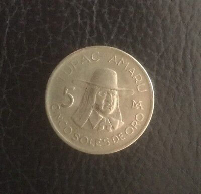 1977 Peru 5c Coin  Circulated Coin - Collect School Project Free Post