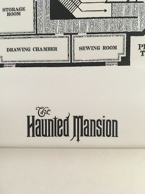 "NEW Disney Parks HAUNTED MANSION Preliminary 2nd Second Floor Plan 8"" Plate!"