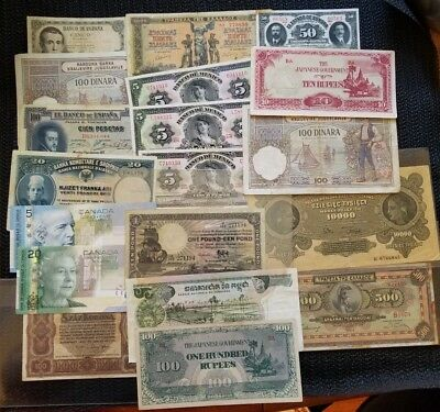 Massive Mixed Lot of Rare Old Currency Hard to UNC Find Must See 160++ pcs. !!