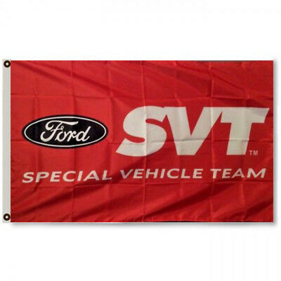 FORD SVT RACING MUSTANG COBRA SPECIAL VEHICLE TEAM FLAG BANNER 3x5Feet