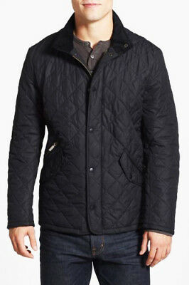 Barbour Men's Black XS Chelsea Sportsquilt Quilted Jacket