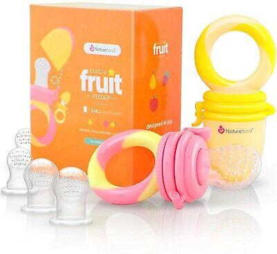 Baby Food Feeder/Fruit Feeder Pacifier (2 Pack) - Infant Teething Toy Teether |