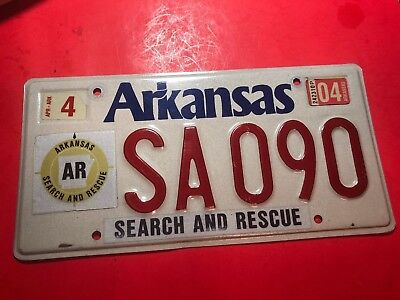 2004 Arkansas Speciality License Plate Search And Rescue