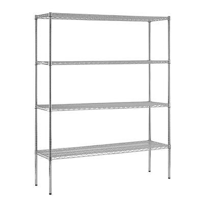 Sandusky Chrome Wire Commercial Shelving Unit 74 in. H x 60 in. W x 18 in. D