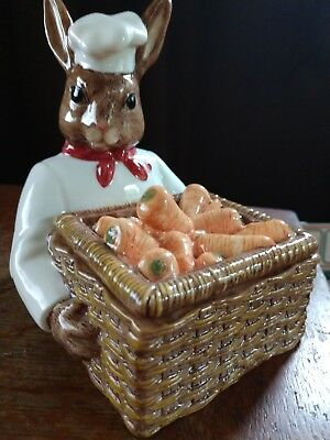 Royal Doulton BUNNYKINS COUNTRY MANOR Chef limited edition number 1010 signed