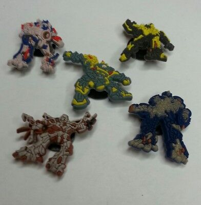 TRANSFORMERS 5 pc set SHOE CHARMS LOT FOR CROC SHOES JIBBITZ BRACELETS AUTOBOTS