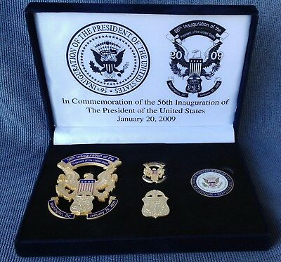 56th Inauguration President United States 2009 FBI Pins Coin-LIMITED-NUMBERED