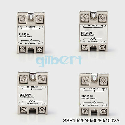 SSR Single-phase Solid State Relay 10-100A Input 2W-47K560KΩ Load 24-380VAC