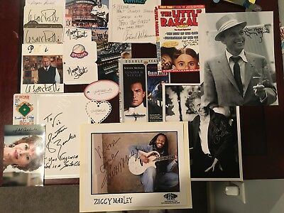 Lot of (19) signed celebrity famous people signatures