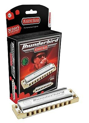 (LLF) - Hohner Inc. M2011BXL-LF Marine Band Thunderbird Harmonica, Key of
