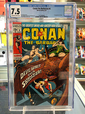 Conan The Barbarian #6 CGC 7.5 Off-White to White Pages 1st Appearance of Fafnir