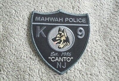 Mahwah New Jersey Police K9 Officer Shoulder Patch - Canto