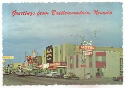 Vintage Postcard Greetings From Battle Mountain, Nevada