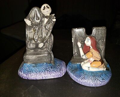 Rare Nighmare Before Christmas Jack And Sally Salt And Pepper Shaker Set