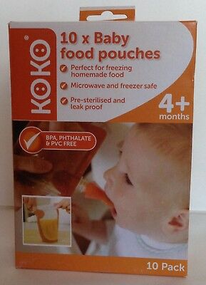 30 Koko Baby Food Pouches 3 Boxes Of 10