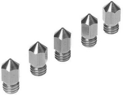 5PCS 3D Printer 0.4mm Extruder Stainless Nozzle Print Head for MK8 1.75mm ABS