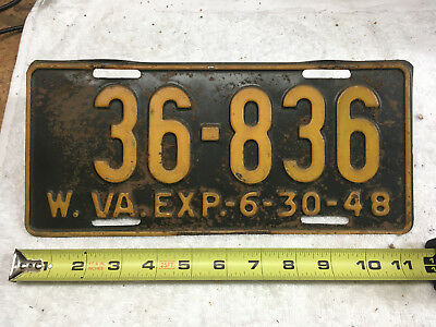 1948 West Virginia license plate