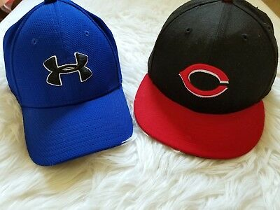 KIDS Cincinnati Reds MLB Game Authentic Collection Fitted Cap UNDER ARMOUR Hat