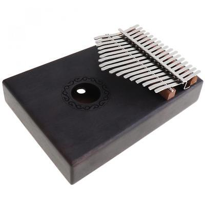 17 Key Gray Kalimba Single Board Mahogany Thumb Piano Mbira with Accessories Set