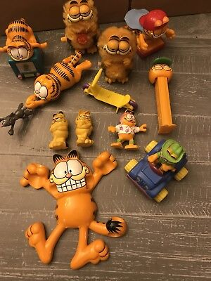 Lot Vintage Garfield Figures Toys