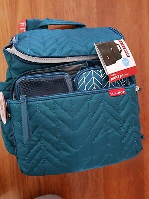 Skip hop nappy backpack (Peacock) (new with tags)