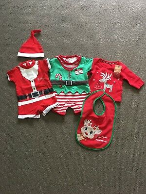Baby Christmas Clothing Bundle Size 000 and 0000 outfts
