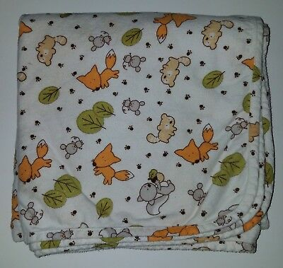 Trend Lab Child Flat Sheet Fox Leaves Raccoon Mouse Squirrel 100% Cottton