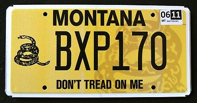 "MONTANA "" DON`T TREAD ON ME - SNAKE "" MT Specialty Graphic License Plate"