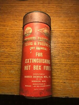 Vintage Dry Chemical Fire Extinguisher MO Pacific Railroad & TX Pacific RR